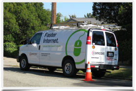 Comcast installing TV, Internet, and Digital Voice