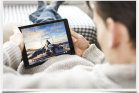 Streaming media on a tablet
