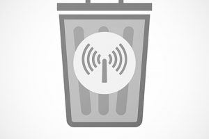 Trash Can WiFi hotspot